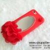 เคส Oppo F1s/A59 ดอกไม้ กระจก สีแดง