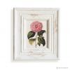 วอลล์อาร์ตพิมพ์ลายดอกกุหลาบ กรอบบัวสีขาว