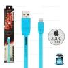 สายชาร์จ Full Speed i5/i6/i7 (Lightning) 2เมตร Remax สีฟ้า