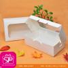 กล่องชิ้นเดียวฝาเปิดด้านบน หน้าสี่เหลี่ยม สีขาว ขนาด 14x21x7ซม. (บรรจุ 50 กล่องต่อแพ็ค)