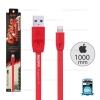 สายชาร์จ Full Speed i5/i6/i7 (Lightning) 1 เมตร Remax สีแดง