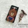 เคส Samsung J7 (2016) หมีบราวน์ มีสาย