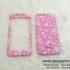 เคส iphone 7 plus ประกบลายดอกไม้ สีชมพู