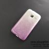 เคส Samsung J1 mini กากเพชรไล่สี 2 ชั้น สีม่วง