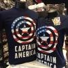 กัปตันอเมริกา สีกรม (Captain logo america CODE:0656)