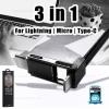 สายชาร์จ 3in1 Iphone6/Micro/Type-C (GPLEX) REMAX สีดำ