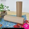 กล่องฝาลิ้นก้นขัด ทรงหกเหลี่ยม สีคราฟธรรมชาติ ขนาด 7x7x25 ซม. (บรรจุแพ็คละ 50 กล่อง)