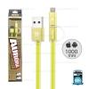 สายชาร์จ 2in1 (i5/i6/i7&Micro USB) AURORA Remax สีเขียว