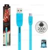 สายชาร์จ Full Speed (Micro USB) 2เมตร Remax สีฟ้า