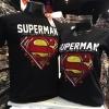 ซุปเปอร์แมน สีดำ (Superman black red yellow logo CODE:0655)