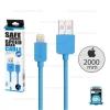 รับประกันสินค้า 1 ปี โดย Remax (Thailand) สายชาร์จ REMAX (light cable) IPhone6/6S 2M, สายกลม, สีฟ้า