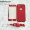 เคส iPhone 7 Dimi มีสาย+ฟิล์ม สีแดง