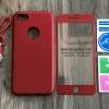 เคส iPhone 7 ประกบฟิล์มกระจก + สาย สีแดง BKK