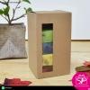 กล่องฝาลิ้นก้นขัด สีคราฟธรรมชาติ มีหน้าต่าง ขนาด 7.3x7.3x13 ซม. (บรรจุแพ็คละ 50 กล่อง)