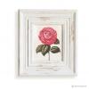 วอลล์อารต์พิมพ์ลายดอกกุหลาบ กรอบบัวสีขาว