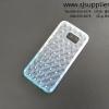 เคสซัมซุง S7 edge เพชร TPU สีฟ้า