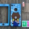 เคส iPhone 5/5s/SE ประกบลายเจ้าหมีบราวน์ มีสาย+ฟิล์มกระจก BKK