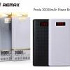 รับประกันสินค้า 1 ปี โดย Remax (Thailand) พาวเวอร์แบงค์ Remax 30000 mAh LCD สีขาว