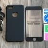 เคส iPhone 7 ประกบฟิล์มกระจก + สาย สีดำ BKK