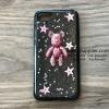 เคส Samsung J2 หมีอวกาศสีชมพู เคสดำ BKK