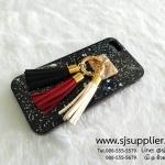 เคส iPhone 5/5s/SE แหวนพู่ สีดำ