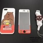 เคส iPhone 7 หมี + สาย สีขาว BKK