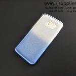 เคส Samsung S7 Edge กากเพชรไล่สี สีฟ้า