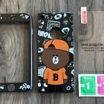 เคส iPhone 7 ประกบลายหมีบีบอย +ฟิล์มกระจก BKK