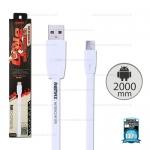 สายชาร์จ Full Speed (Micro USB) 2เมตร Remax สีขาว