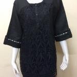 เสื้อผ้าลินินลูกไม้ สีดำ By T&L Size XXL (อก 48 - 50)