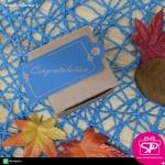 ป้ายTAG กระดาษคร๊าฟ สีฟ้า ขนาด 3.6x7.3 ซม. (บรรจุแพ็คละ 50 ชิ้น)