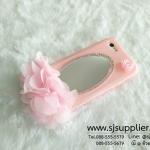 เคส Oppo F1s/A59 ดอกไม้ กระจก สีชมพู