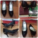 Sale! พร้อมส่ง รองเท้าส้นสูง สีดำ ไซส์ 35 รหัส PP-T9-10