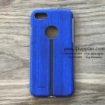 เคส iPhone 7 Plus ลายเนื้อไม้ สีน้ำเงิน BKK