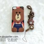เคส iPhone 6/6s Plus หมีบราวน์มีสาย