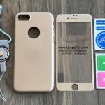 เคส iPhone 7 ประกบฟิล์มกระจก + สาย สีทอง BKK