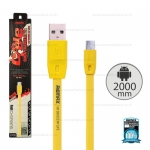 สายชาร์จ Full Speed (Micro USB) 2เมตร Remax สีเหลือง
