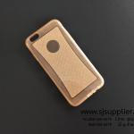 เคส iPhone6/6s New Slim TPU กากเพชร สีส้ม