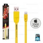 สายชาร์จ Full Speed i5/i6/i7 (Lightning) 2เมตร Remax สีเหลือง