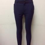 กางเกงขา 5 ส่วน ผ้าดับเบิ้ล สีกรม