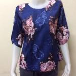 เสื้อคอกลมผ้าเมสัน By PISTA สีน้ำเงิน Size 42