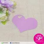 ป้ายTAG ลายเรียบทรงหัวใจ สีม่วง ขนาด 5.5x4.5 ซม. (บรรจุแพ็คละ 50 ชิ้น)