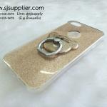 เคส iPhone 7 แหวนกากเพชร สีทอง