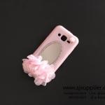เคส Samsung J2 ดอกไม้ กระจกสีชมพู