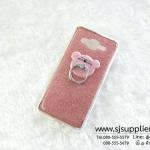 เคส Samsung J2 แหวนกากเพชร สีชมพู
