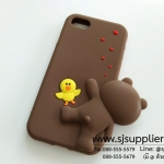 เคส iPhone7 หมีบราว์เกาะข้าง