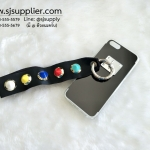 เคส iPhone 6/6s Plus เงามีสาย สีดำ