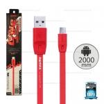 สายชาร์จ Full Speed (Micro USB) 2เมตร Remax สีแดง