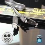 สายชาร์จ i5/i6/Micro (RC-042T) Strive REMAX สีเงิน