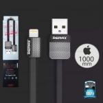 สายชาร์จ iPhone5/6/6s (044i) REMAX Metal,สีดำ